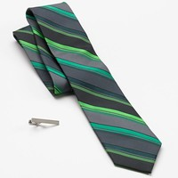Wide stripes add visual appeal to this men's Apt. 9 skinny tie, ...