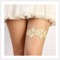 Laurence  metallic gold or silver floral lace bridal by woomi