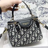 D Dior New fashion more letter leather shoulder bag handbag crossbody bag bucket bag