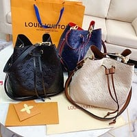 Louis Vuitton LV Fashion Women Shopping Bag Leather Bucket Bag Shoulder Bag Crossbody Satchel