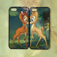 Bambi and Faline Couple Cases-iPhone 5, iphone 4s, iphone 4 case, Samsung GS3-Silicone Rubber or Hard Plastic Case, Phone cover