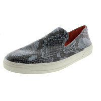 Via Spiga Womens Galant Embossed Snake Print Loafers
