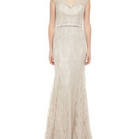 Lace Beaded Gown