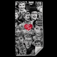 I Love Lucy Faces Beach Towel
