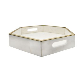 Banks Marble Tray by Worlds Away