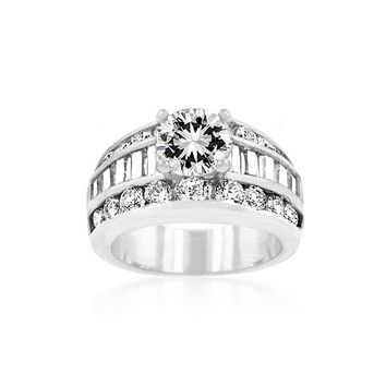 Luxurious Engagement Ring, size : 08