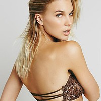 Intimately Womens Sequin Essential Lace Bandeau