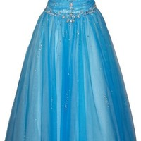 Beaded Mesh Fairy Prom Dress Formal Ball Gown, Large, Fuchsia