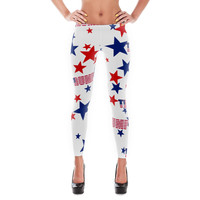 Donald Trump Blue & Red American Stars Leggings