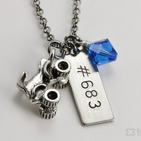 RACE Necklace - ATV Quad Charm Number Necklace - Motocross, ATV, Off Road Necklace