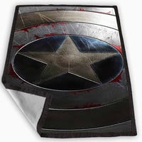 Captain America Winter Soldier Shield Blanket for Kids Blanket, Fleece Blanket Cute and Awesome Blanket for your bedding, Blanket fleece **