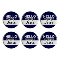 Jesse Hello My Name Is Plastic Resin Button Set of 6