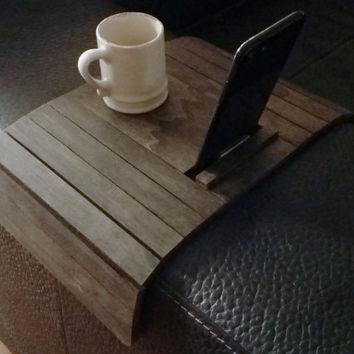 Laser cut sofa arm table and smartphone stand,sofa table,sofa tray,modern side table,couch arm wrap,lounge arm tray,couch arm rest table