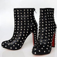 Christian Louboutin Women Fashion Casual Heels Shoes Boots-40