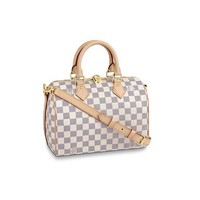 HPASS Speedy 30cm Designer Woman Organizer Handbag Damier Tote Shoulder Bag with Strap