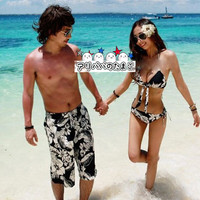 Couple swimsuit pair look swimsuit Lady's swimsuit men beachwear tank top bikini surf underwear couple swimsuit pair look Valentine matching pair ♪ pair look overseas travel / honeymoon / sea bathing / swimming pool / hot spring