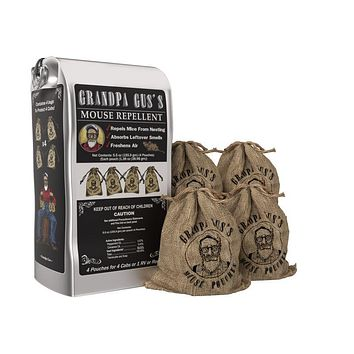 4 Pack Grandpa Gus's Mouse Repellent Pouches