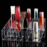 Trapezoid Clear Makeup Organizer