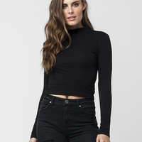 AMBIANCE Mock Neck Womens Top | Raglans + L/S Tees