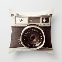 Camera Throw Pillow by Tuky Waingan | Society6