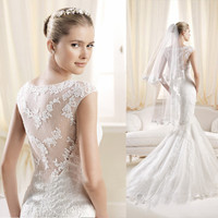 wedding dress that is  romantic and sexy with lace fashion