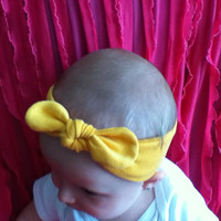 Child sized Retro stretchy knotted head wrap
