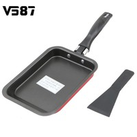 Nonstick Carbon Steel Frying Pan Tamagoyaki Eggs Roll Maker Sushi Omelette Fry Pans Mini Rectangular Kitchen Tools Cookware