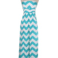 Mint Chevron Maxi Dress