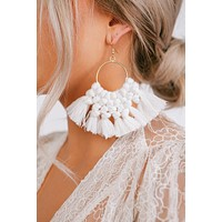 Never Gets Old Dangle Earrings (White)