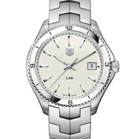 Tag Heuer Mens Link Silver Dial Watch