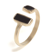 14K Gold-plated rectangle and square inlaid with colorful Enamel adjustable statement stackable ring 14K Gold Filled Free Shipping