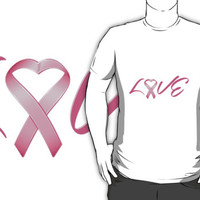 Love Pink Breast Cancer Ribbon