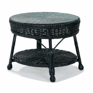 Hemingway Wicker Accent Table