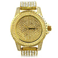 Gold All Custom Watch Iced Out Band