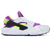 Nike Air Huarache Run '91 QS White/Black Neon Yellow AH8049 101 Youth Size 4Y