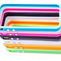 Pack of 10 Colorful Premium TPU silicone Bumper Case W/ Metal Buttons for iPhone 5 5G 5th - 10 Pcs
