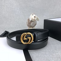 Gucci smooth belt fashion casual G letter buckle belt