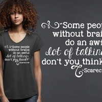 Some People Without Brains T-shirt | Alice In Wonderland