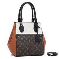 Louis Vuitton LV Fashion Retro Stitching Ladies Handbag Shoulder Bag Messenger Bag