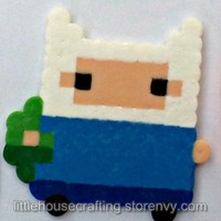 Finn the Human Perler (Adventure Time) from Little House of Crafting