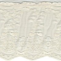 "Wrights Ruffled Fancy Lace 3-1/2"" Wide 12 Yards-Natural 186 2502-029"