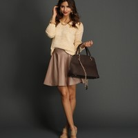 Sale-ivory Cozy And Casual Sweater
