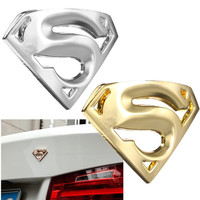 3D Metal Superman Style Car Logo Motorcycle Emblem Badge Bonnet Sticker Decal Gift = 1946469444