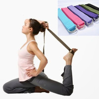 2PCS Yoga Stretch Strap D-Ring Training Cotton Belt Waist Leg Fitness Exercise Gym Workout Adjustable Six Colors = 1932939460