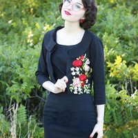 JD2 Embroidered Pencil Dress - Custom Size