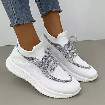 Fashion Breathable Flat Casual Mesh Shoes