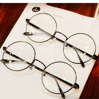 Round Spectacle Glasses Frames Glasses With Clear Glass Women Men Optical Frame Transparent Glasses  For Harry Potter-Best Christmas Gift