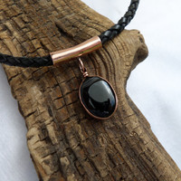 Agate Necklace, Copper and Agate Necklace, Agate and Copper Necklace, Agate Necklace, Copper Necklace, Agate Pendant, ColeTaylorDesigns