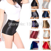 NEW High Waist Women Girls Shiny Stretch Disco Shorts Fashion Apparel Hot Pants 8Colors XS S M L Alternative Measures