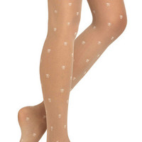 For Sheer in Bows | Mod Retro Vintage Tights | ModCloth.com